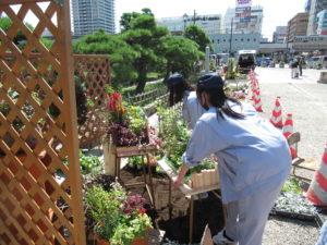 園芸科草花デザインコースがガーデニングを出展しました。