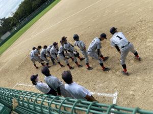 【軟式野球部】秋季ブロック大会2回戦の結果