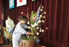 園芸科草花デザインコース 入学式の装飾