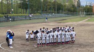 【軟式野球部】春季ブロック大会2回戦の結果